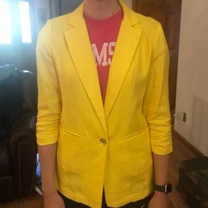 Summer yellow linen blazer by Michael Kors
